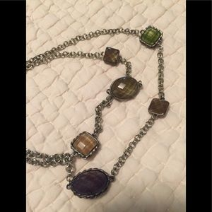 Used, J.Jill necklace multi colored stones for sale